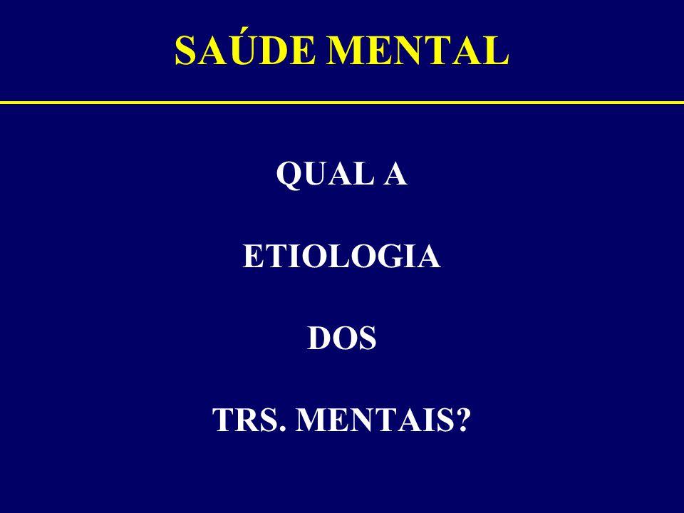 QUAL A ETIOLOGIA DOS TRS. MENTAIS
