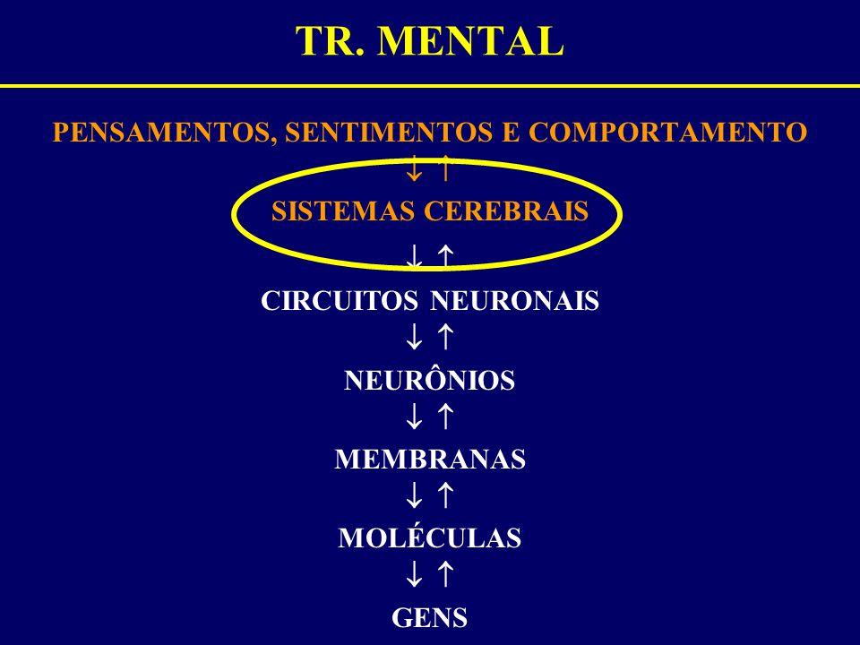 PENSAMENTOS, SENTIMENTOS E COMPORTAMENTO   SISTEMAS CEREBRAIS