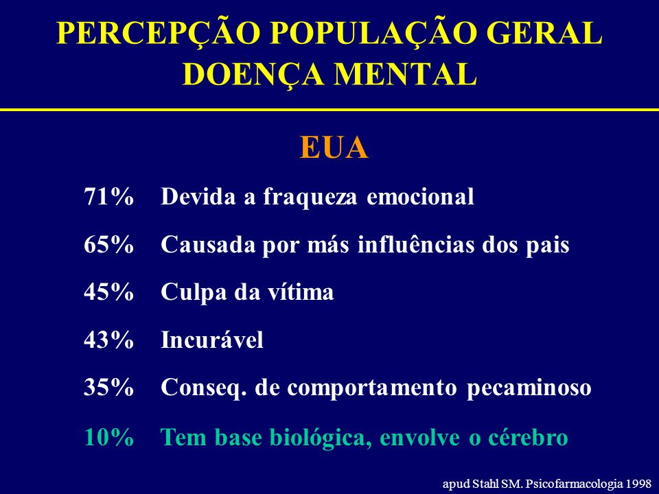 PERCEPÇÃO POPULAÇÃO GERAL DOENÇA MENTAL