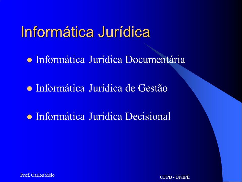 Informática Jurídica Informática Jurídica Documentária