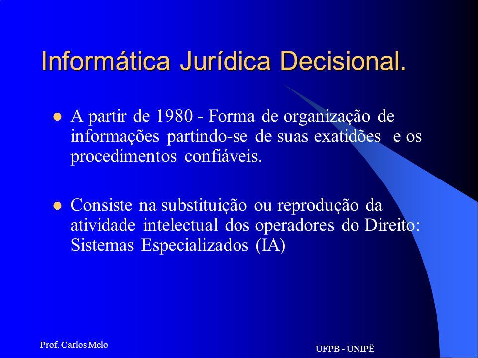 Informática Jurídica Decisional.