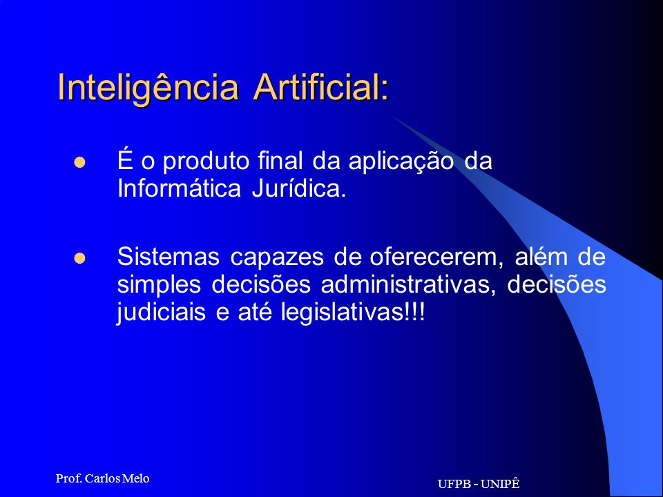 Inteligência Artificial: