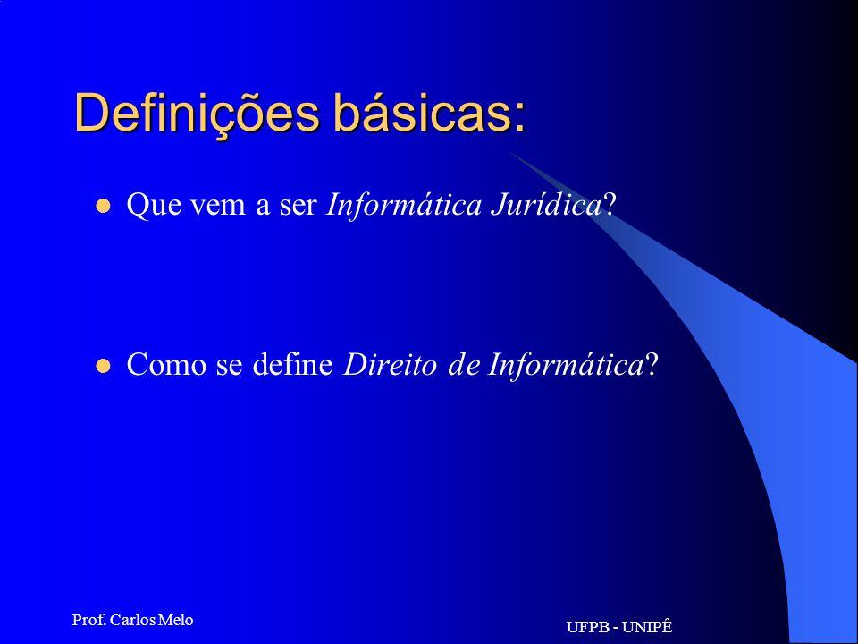 Definições básicas: Que vem a ser Informática Jurídica