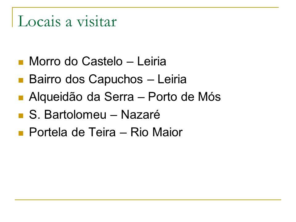 Locais a visitar Morro do Castelo – Leiria