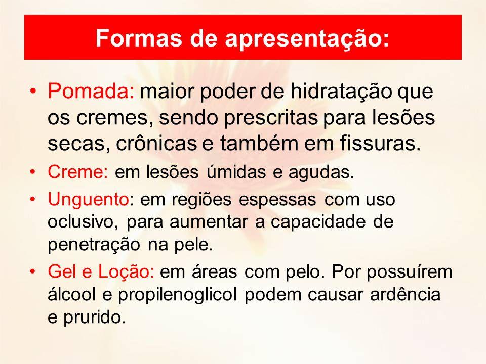 Formas de apresentação: