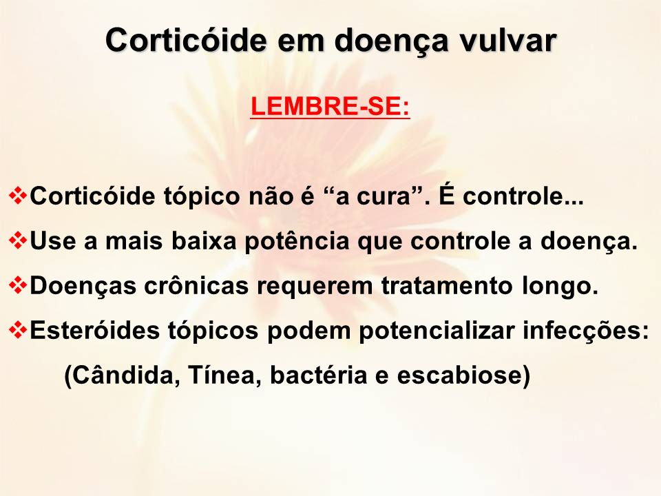 Corticóide em doença vulvar