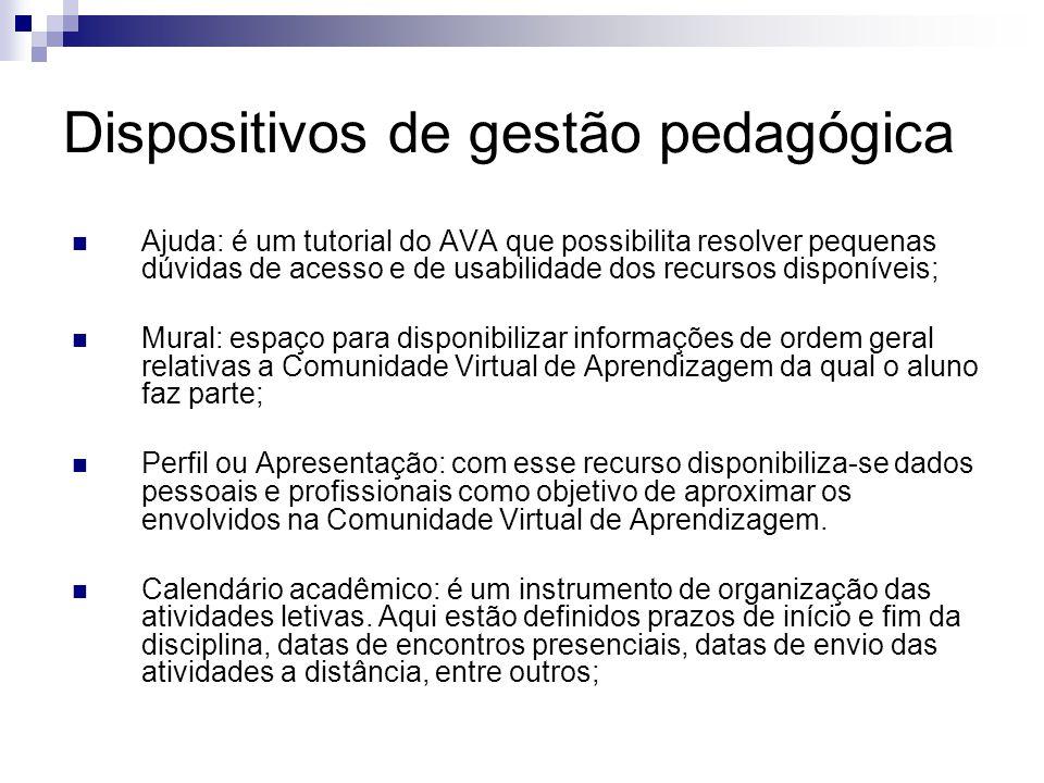 Dispositivos de gestão pedagógica