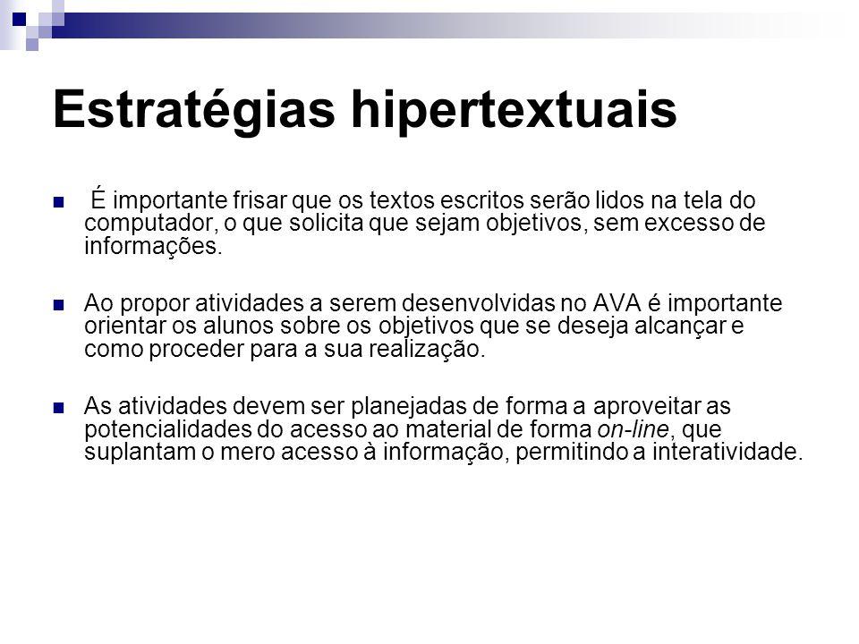 Estratégias hipertextuais