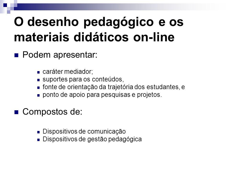 O desenho pedagógico e os materiais didáticos on-line