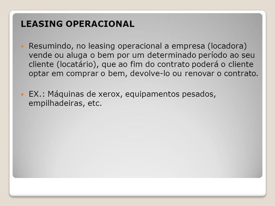LEASING OPERACIONAL
