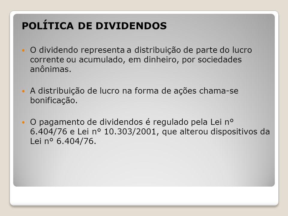 POLÍTICA DE DIVIDENDOS