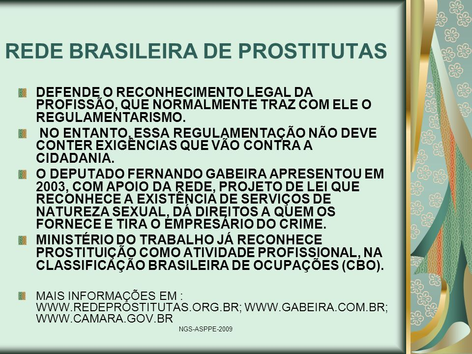 REDE BRASILEIRA DE PROSTITUTAS