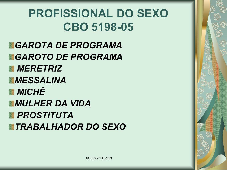 PROFISSIONAL DO SEXO CBO 5198-05