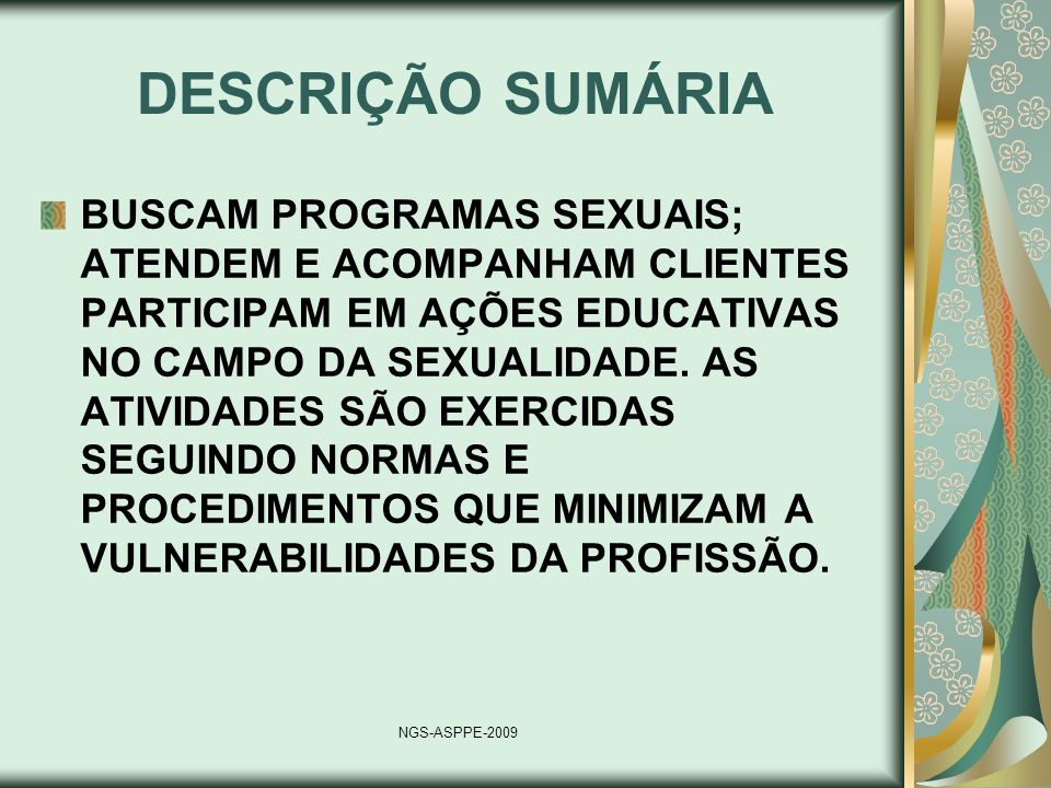 DESCRIÇÃO SUMÁRIA