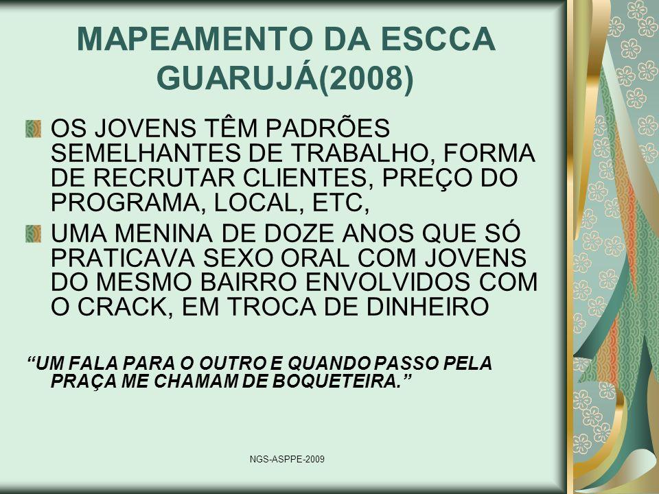 MAPEAMENTO DA ESCCA GUARUJÁ(2008)