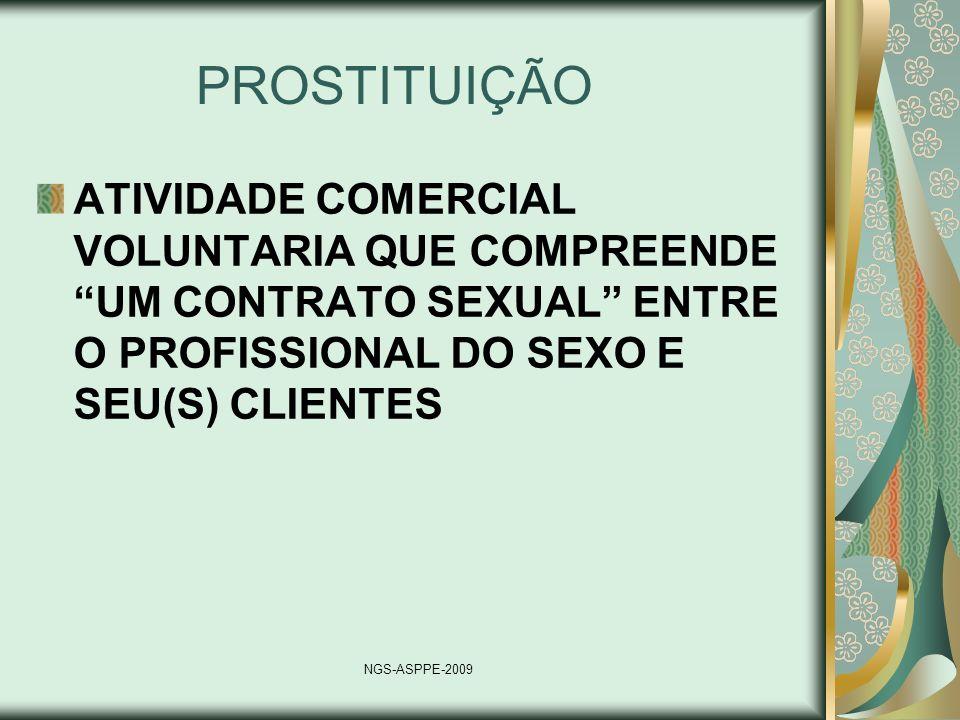PROSTITUIÇÃOATIVIDADE COMERCIAL VOLUNTARIA QUE COMPREENDE UM CONTRATO SEXUAL ENTRE O PROFISSIONAL DO SEXO E SEU(S) CLIENTES.