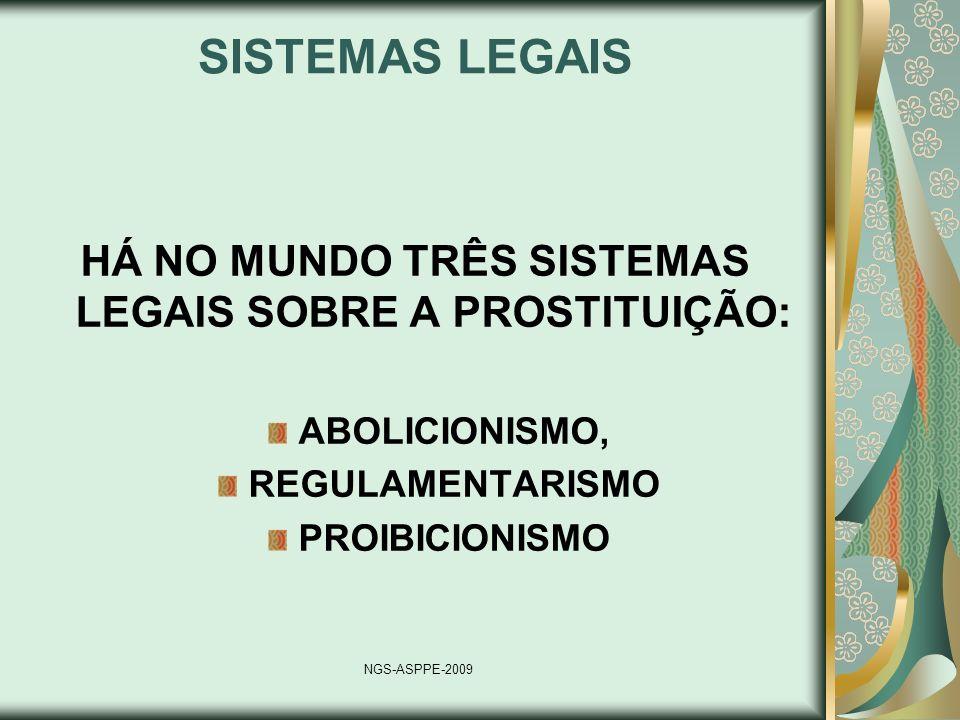 HÁ NO MUNDO TRÊS SISTEMAS LEGAIS SOBRE A PROSTITUIÇÃO: