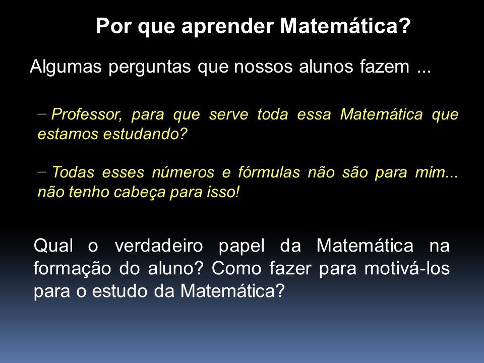 Por que aprender Matemática