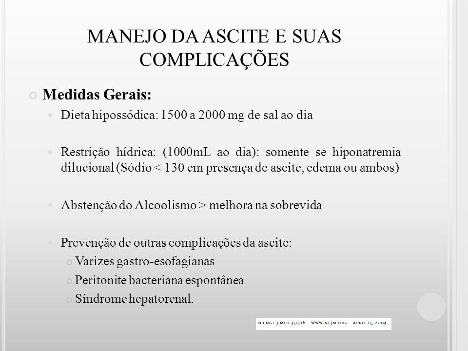 MANEJO DA ASCITE E SUAS COMPLICAÇÕES