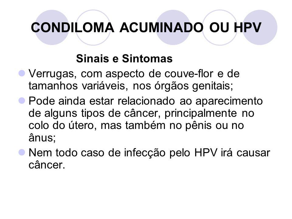 CONDILOMA ACUMINADO OU HPV