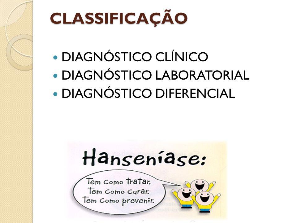 CLASSIFICAÇÃO DIAGNÓSTICO CLÍNICO DIAGNÓSTICO LABORATORIAL