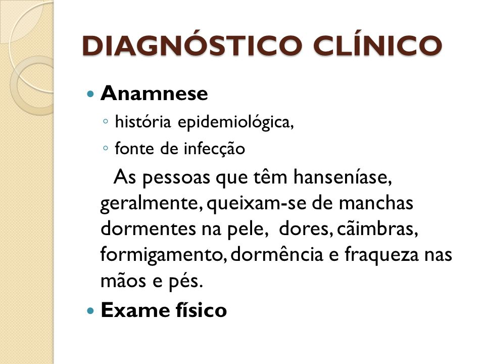 DIAGNÓSTICO CLÍNICO Anamnese