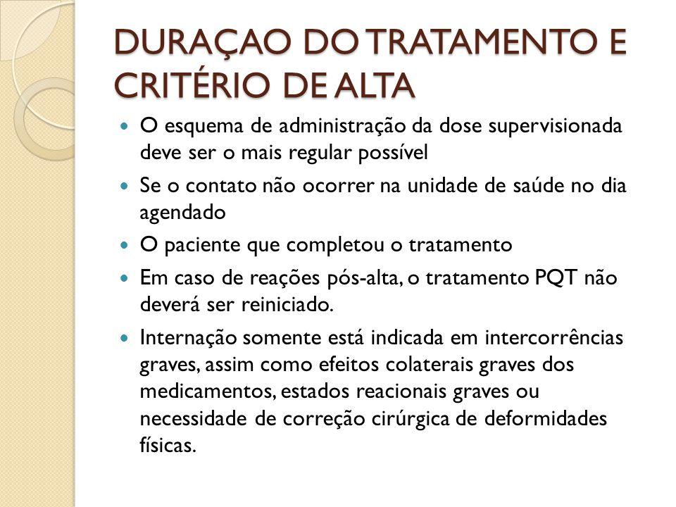 DURAÇAO DO TRATAMENTO E CRITÉRIO DE ALTA