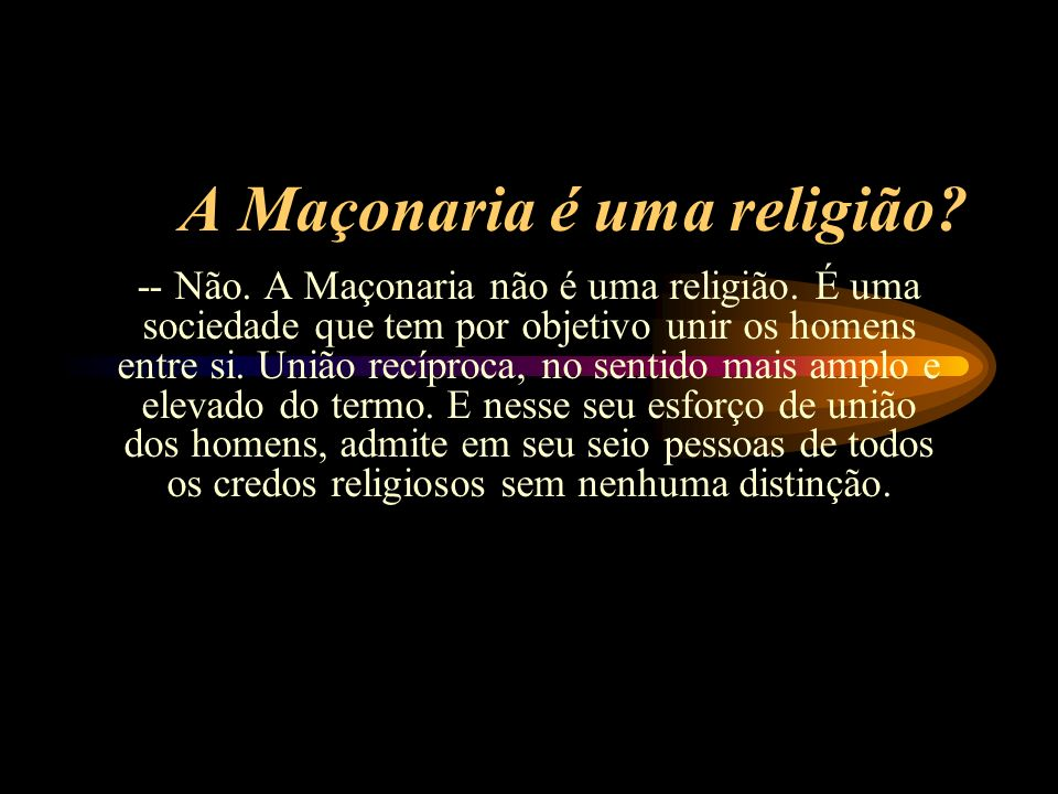 A Maçonaria é uma religião