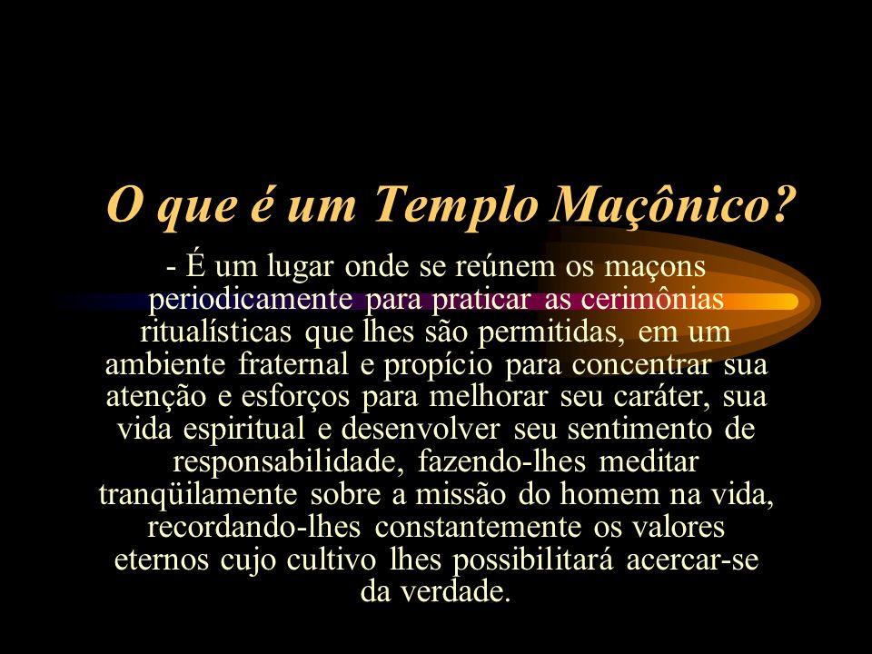 O que é um Templo Maçônico