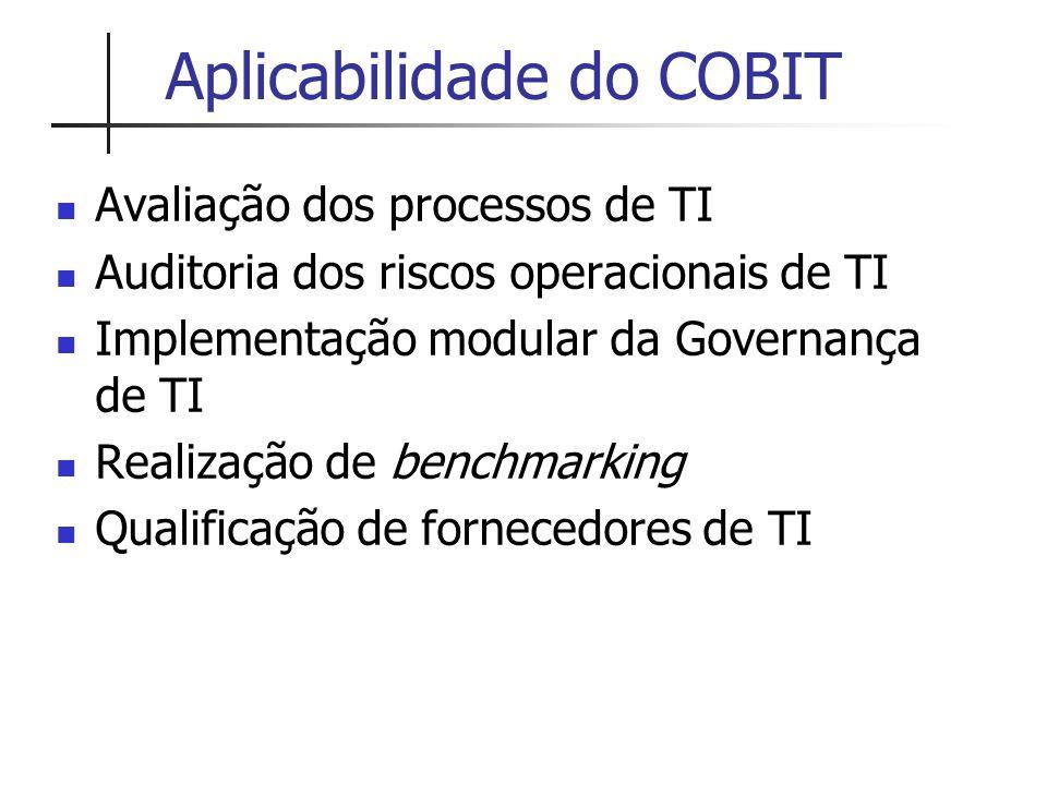 Aplicabilidade do COBIT