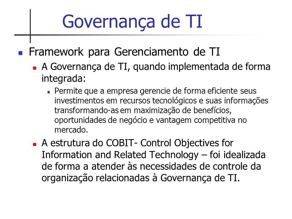 Governança de TI Framework para Gerenciamento de TI