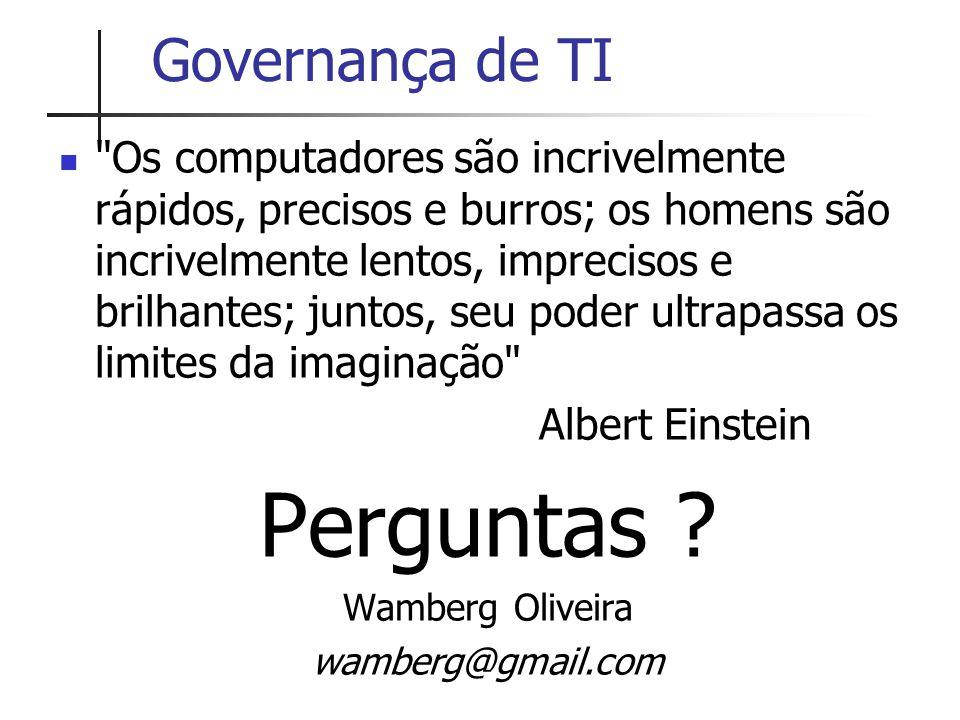 Perguntas Governança de TI
