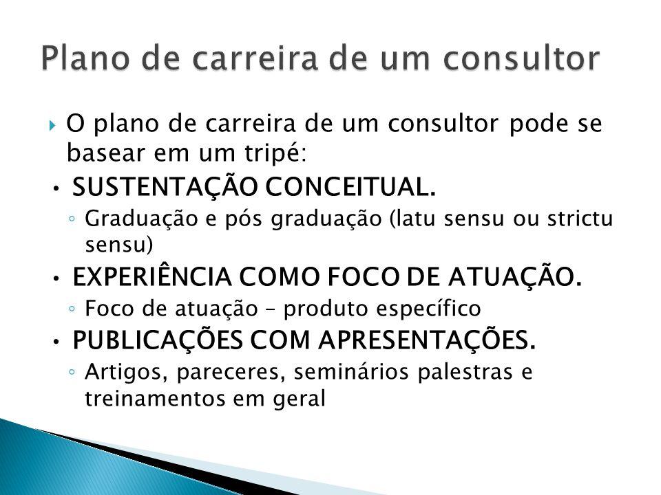 Plano de carreira de um consultor