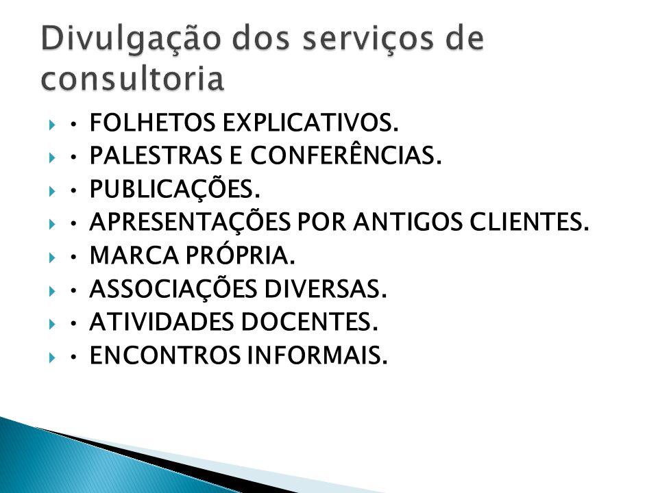 Divulgação dos serviços de consultoria