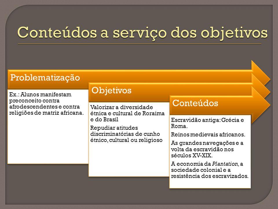 Conteúdos a serviço dos objetivos