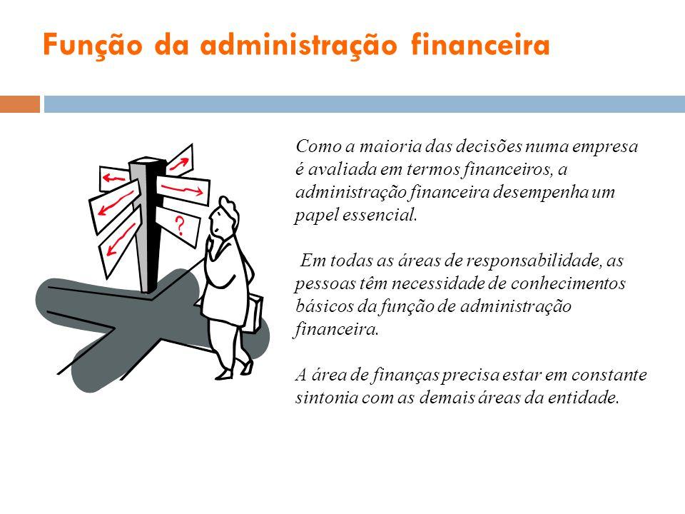 Função da administração financeira