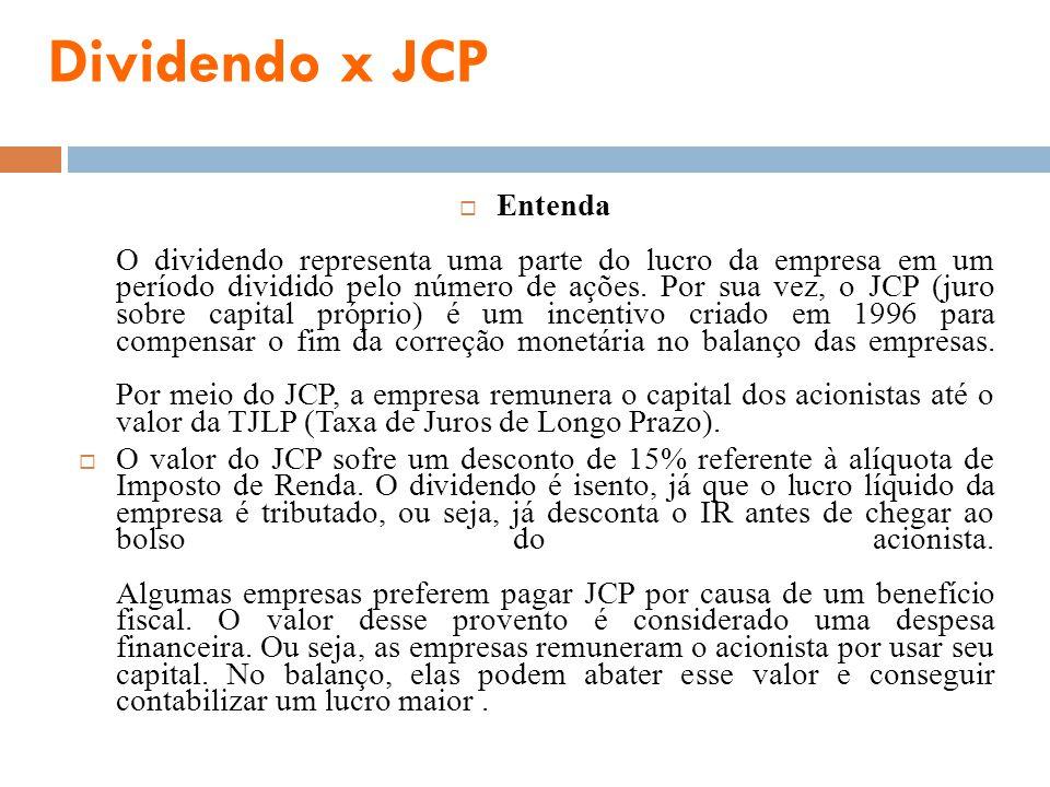 Dividendo x JCP
