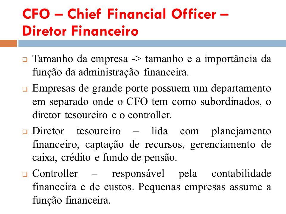 CFO – Chief Financial Officer – Diretor Financeiro