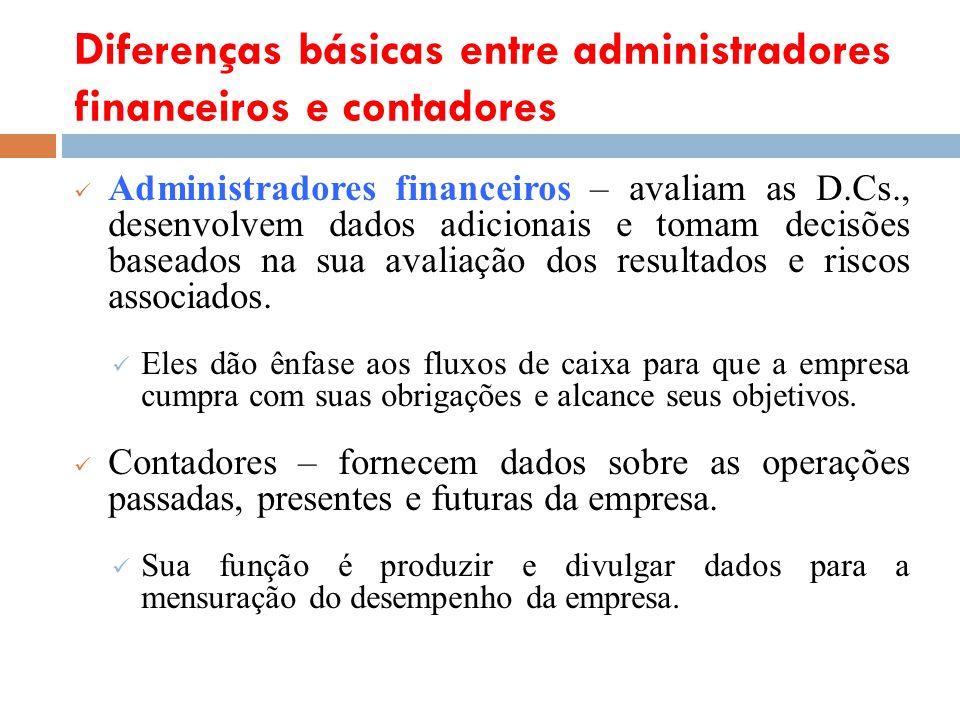 Diferenças básicas entre administradores financeiros e contadores