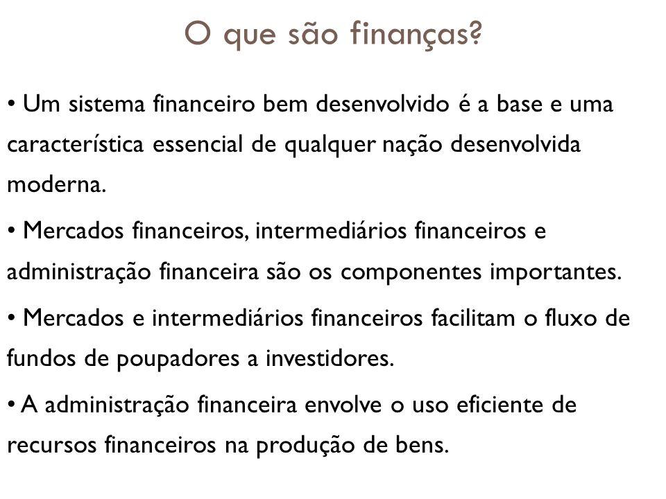 O que são finanças Um sistema financeiro bem desenvolvido é a base e uma característica essencial de qualquer nação desenvolvida moderna.
