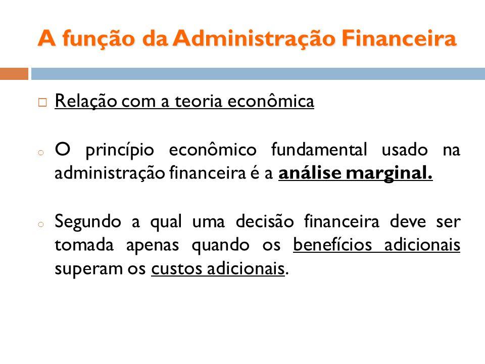 A função da Administração Financeira
