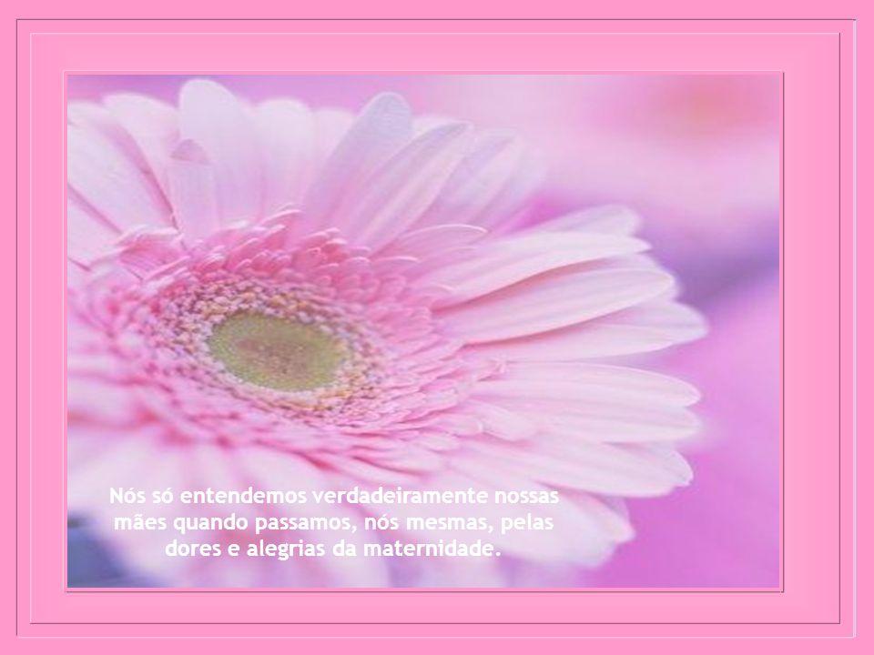 Nós só entendemos verdadeiramente nossas mães quando passamos, nós mesmas, pelas dores e alegrias da maternidade.