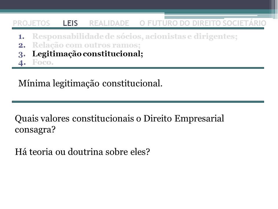 Mínima legitimação constitucional.