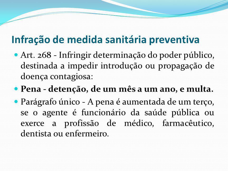 Infração de medida sanitária preventiva