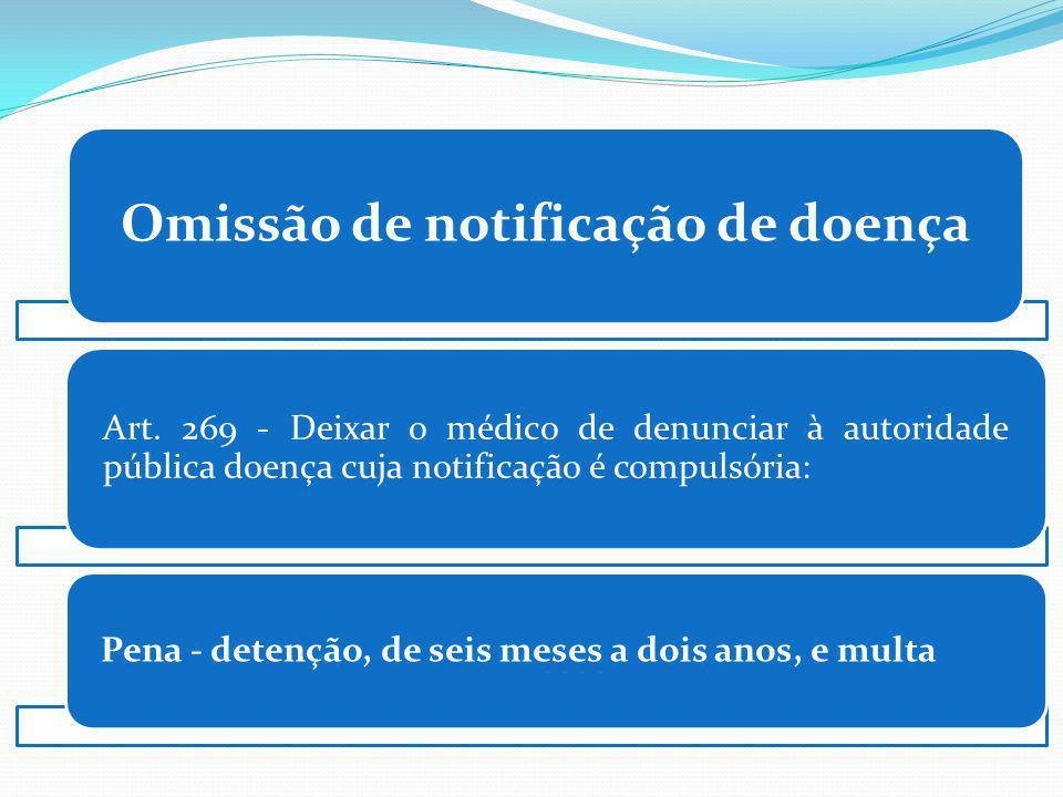 Omissão de notificação de doença