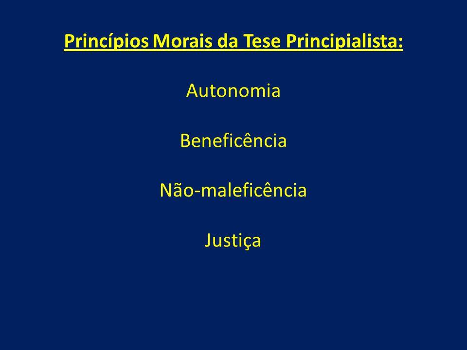 Princípios Morais da Tese Principialista:
