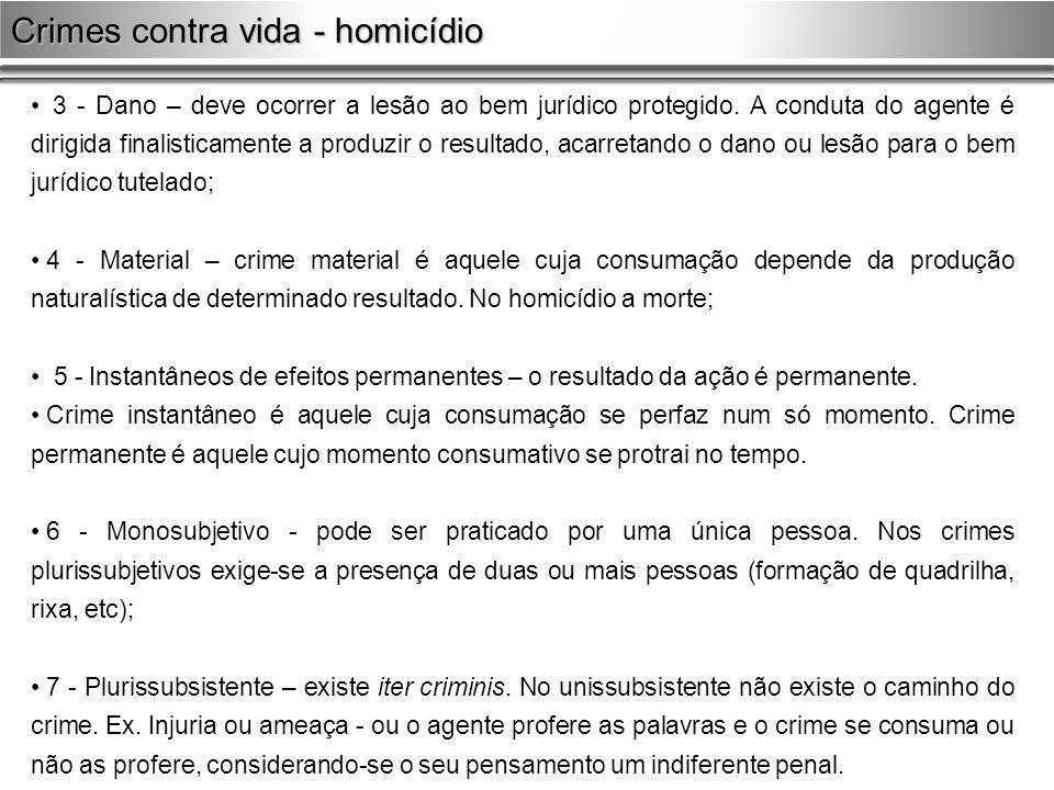 Crimes contra vida - homicídio