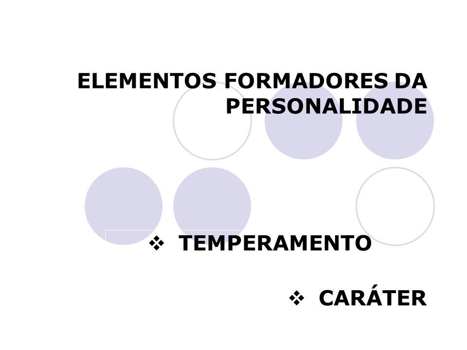ELEMENTOS FORMADORES DA PERSONALIDADE