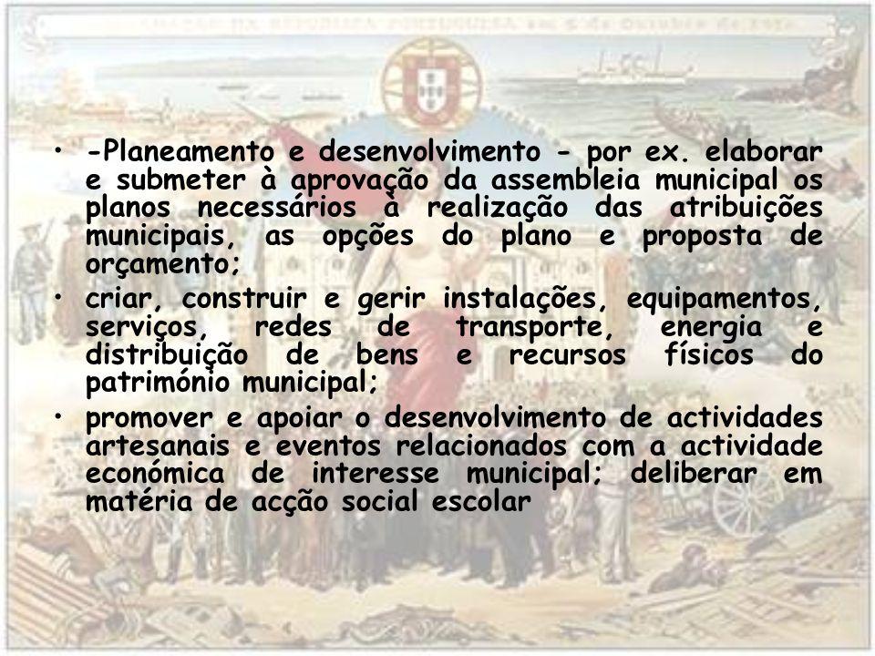 -Planeamento e desenvolvimento - por ex
