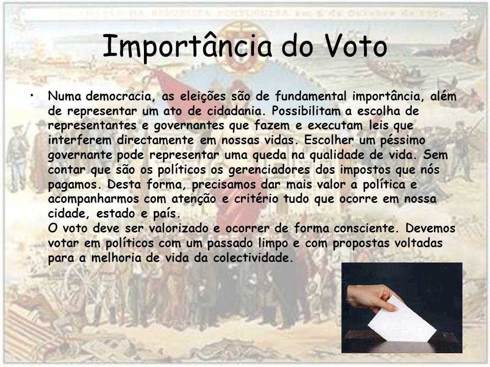 Importância do Voto